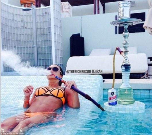 Women in Iran Smoking Shish @Rich Kids of Tehran
