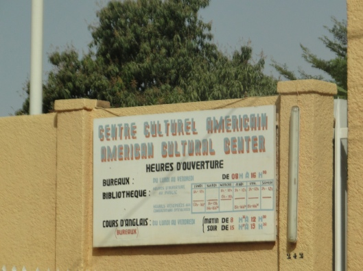 USA Cultural Centre, example of the influence of the US in West Niger.