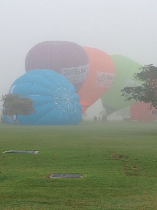 Hot Air Ballons gearing up for the Games