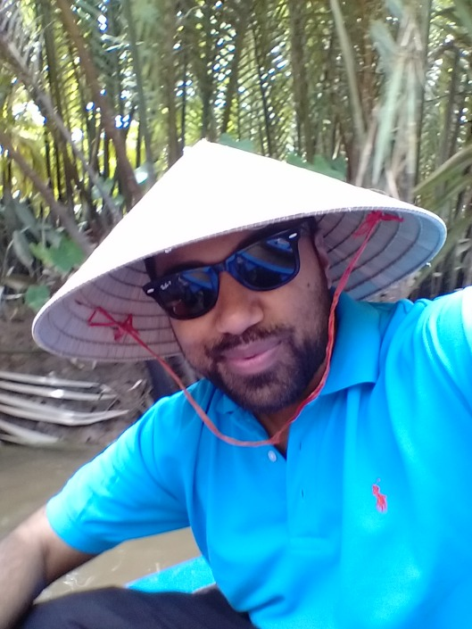 Funky hats given on the Mekong River Cruise