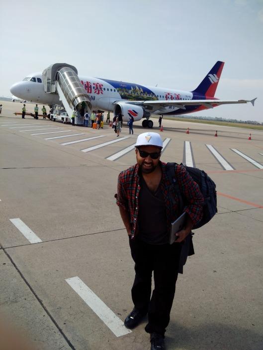 Boarding a flight from Siem Rep to Phnom Penh (Dec, 2014)