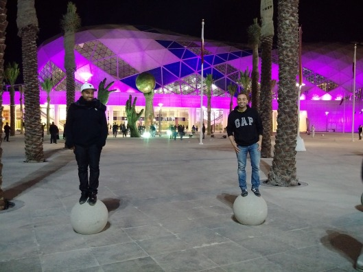 Myself and Mohammed outside the stadium