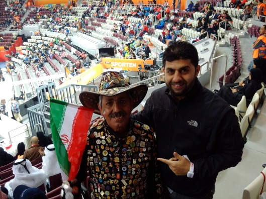 Noyan and the Notorious Irani fan with all the badges...