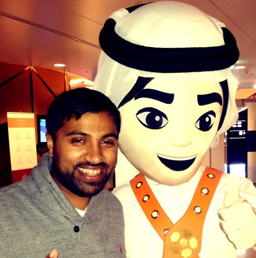 Myself and Fahad the Mascot