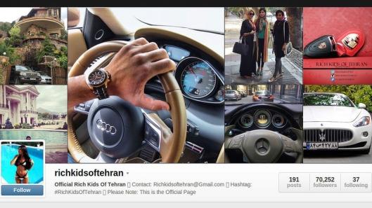 Instagram Cover of Rich Kids of Tehran