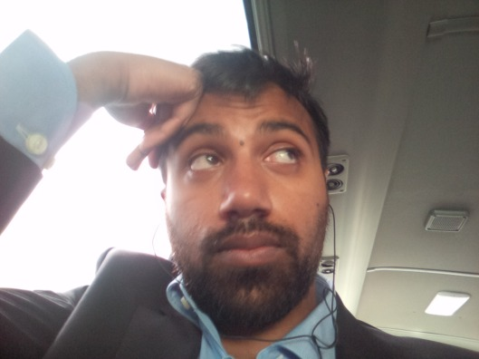 On the way to Al-Zubara on the bus...
