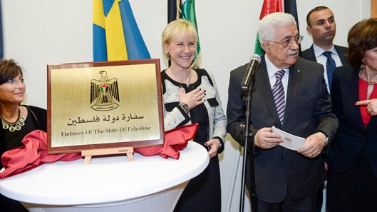 Sweden taking a leading role in the Palestian Cause