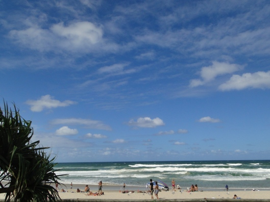 The famous beach at Surfers Paradise