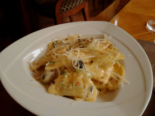 Scrumptious Raviolli made fresh at the Pasta Bar...