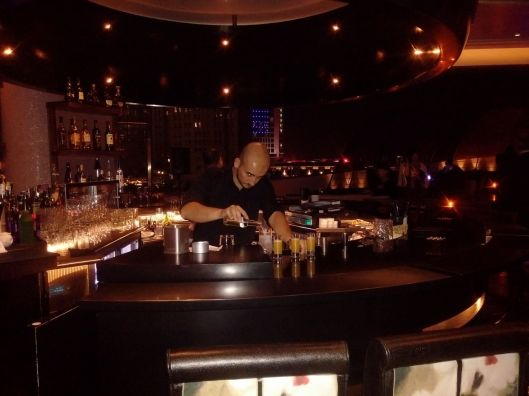 Nobu mixologist at work....