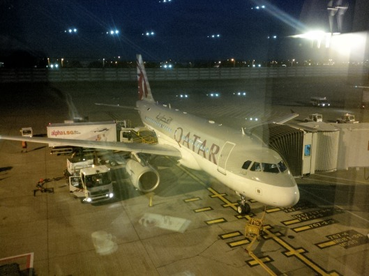 A319 view from the Lounge in London